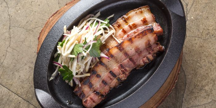 Grilled Maple Smoked Pork Belly, Lily & Bloom, Central, Hong Kong