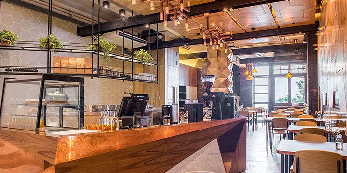 Interior of The Populus Coffee & Food Co. in Tanjong Pagar, Singapore