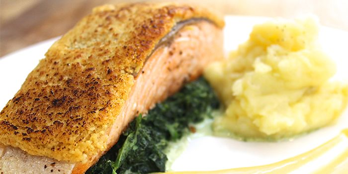Salmon from The Fabulous Baker Boy in Clarke Quay, Singapore