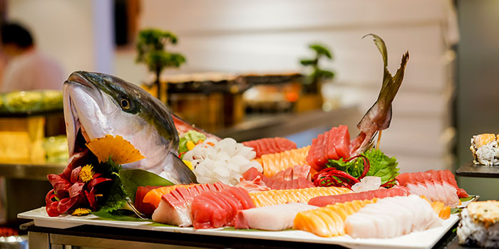 Sushi & Sashimi from The Line in Shangri-La Hotel in Orchard, Singapore