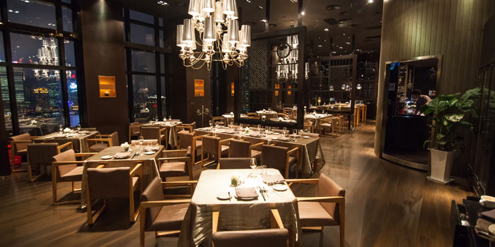 Interior of M1NT Restaurant & Grill in Huangpu, Shanghai