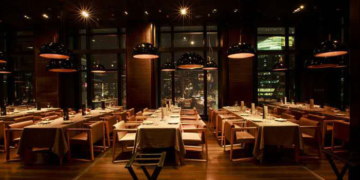 Dining Area of M1NT Restaurant & Grill in Huangpu, Shanghai