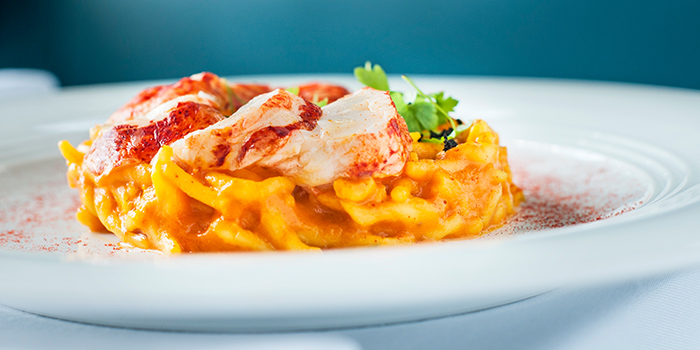 Homemade Tagliolini Pasta with Scampi from ilLido at the Cliff in Sentosa, Singapore