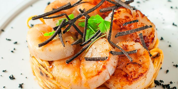 Scallops & Truffle Tagliolini from ilLido at the Cliff in Sentosa, Singapore