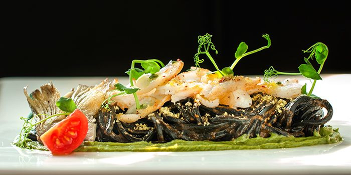 Squid Ink Tonnarelli from ilLido at the Cliff in Sentosa, Singapore