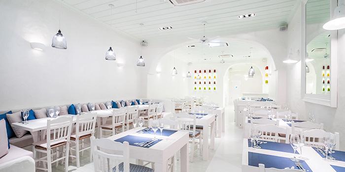 Interior of Alati Divine Greek Cuisine in Tanjong Pagar, Singapore