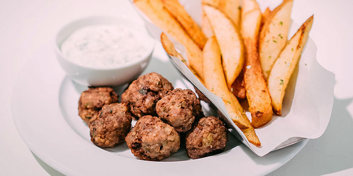 Meatballs and Chips from Alati Divine Greek Cuisine in Tanjong Pagar, Singapore
