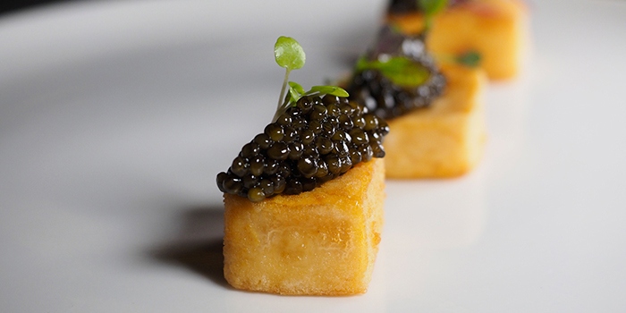 Tofu with Caviar from BAM! Restaurant on Tras Street in Tanjong Pagar, Singapore