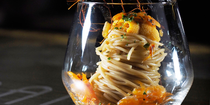 Cold Capellini and Uni from BAM! Restaurant on Tras Street in Tanjong Pagar, Singapore