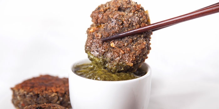 Black Bean Patties from Pure and Whole (Shanghai Centre) in Nanjing Xi Lu, Shanghai