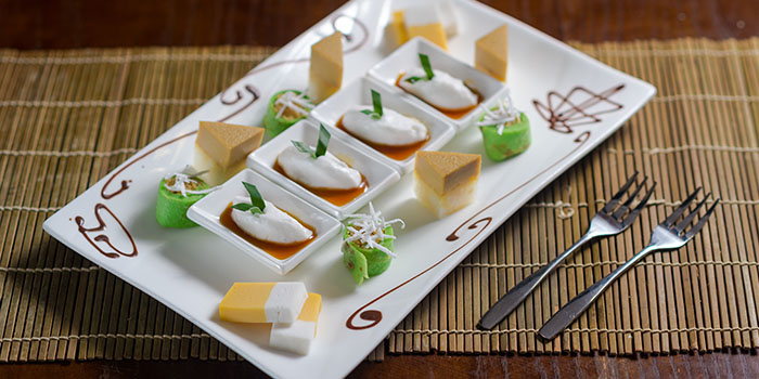 Dessert Platter from Bumbu in Jing