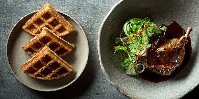 Duck & Waffles from Cheek by Jowl on Boon Tat Street in Raffles Place, Singapore