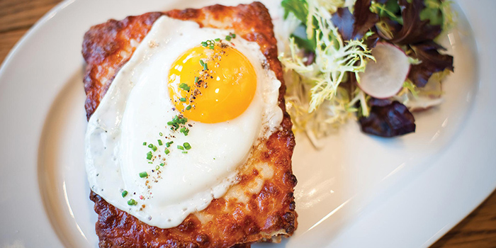 Croque Madame from db Bistro & Oyster Bar in The Shoppes at Marina Bay Sands, Singapore