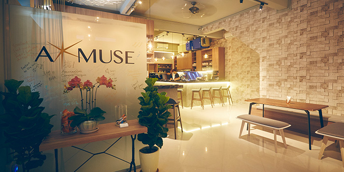 Interior of A*MUSE Omakase in Tiong Bahru, Singapore