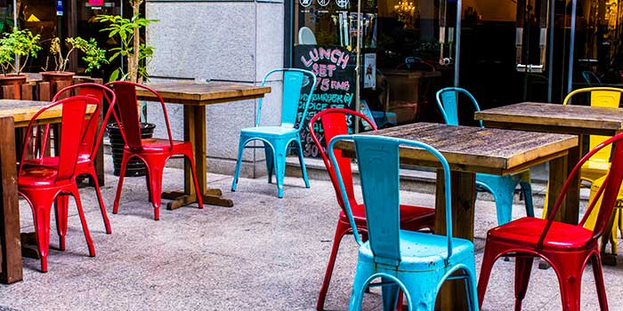 Outdoor Seating of Bistro Burger in Xuhui, Shanghai