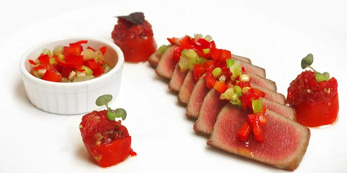 Seared tuna with spicy pepper and onion, Va Bene, Sai Ying Pun, Hong Kong