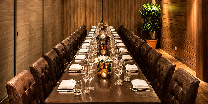 Private Dining Room of Bistecca Tuscan Steakhouse in Robertson Quay, Singapore