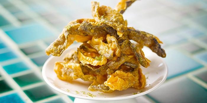 Fried Salmon Skin from Blue Lotus - Chinese Eating House in Sentosa, Singapore