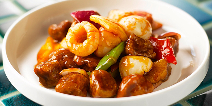 Lychee Sweet & Sour Pork from Blue Lotus - Chinese Eating House in Sentosa, Singapore