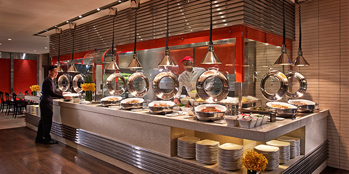 Asian Cuisine Section from Carousel at Royal Plaza on Scotts in Orchard, Singapore