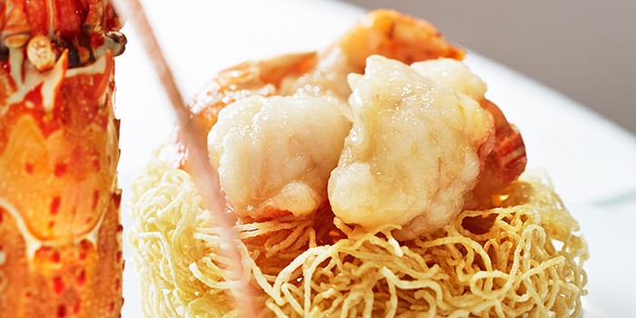 Crispy Lobster Noodles from Hai Tien Lo in Pan Pacific Singapore in Promenade, Singapore