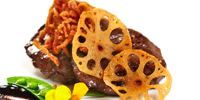 Pan Fried Venison from Hai Tien Lo in Pan Pacific Singapore in Promenade, Singapore
