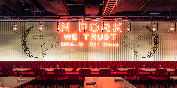 Dining Room, The Fat Pig by Tom Aikens, Causeway Bay, Hong Kong