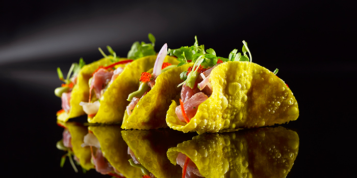 Ahi Tuna Tacos from Manhattan in Regent Singapore, Tanglin, Singapore