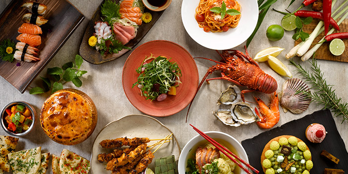 Cuisines from Melt Cafe at Mandarin Oriental in Marina Bay, Singapore