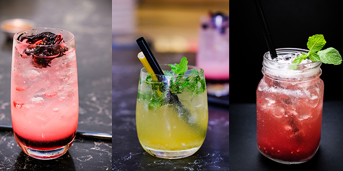 Cocktails from REDPAN at Marina Square in Promenade, Singapore