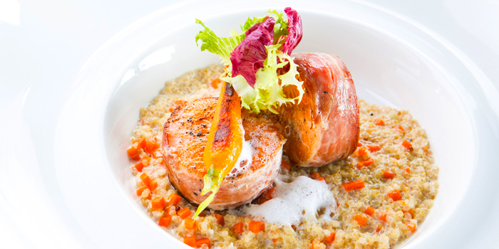 Scottish Salmon Tournedos from Blue Sky Rooftop Bar & Dining at Central Plaza Ladprao, Bangkok