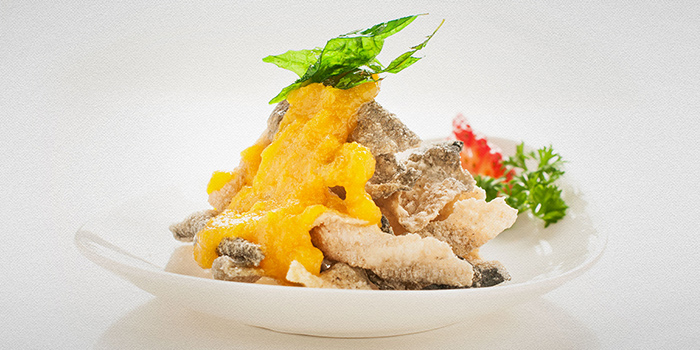 Tao seafood asia chope restaurant reservations for Salted egg fish skin