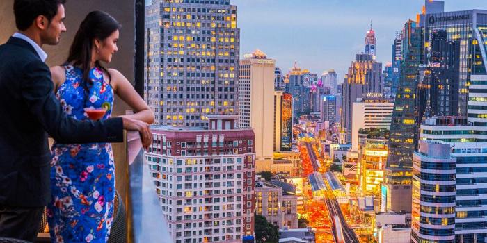 View from Maya Restaurant & Bar at Holiday Inn Sukhumvit, Bangkok