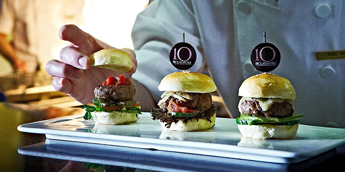 Mini Burgers from 10 at Claymore at Pan Pacific Orchard in Orchard, Singapore