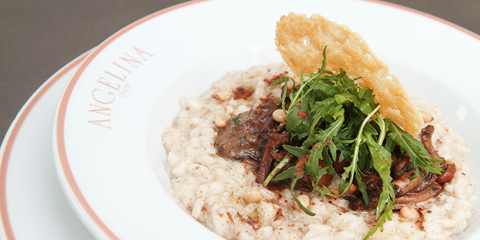 Mushroom Risotto from Angelina in City Hall, Singapore