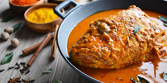 Fish Head Curry from Apolo Bistro in Little India, Singapore