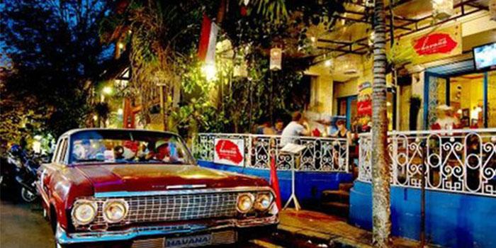 Exterior of Cafe Havana in Ubud, Bali