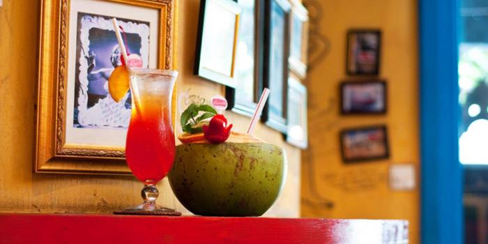 Drinks from Cafe Havana in Ubud, Bali