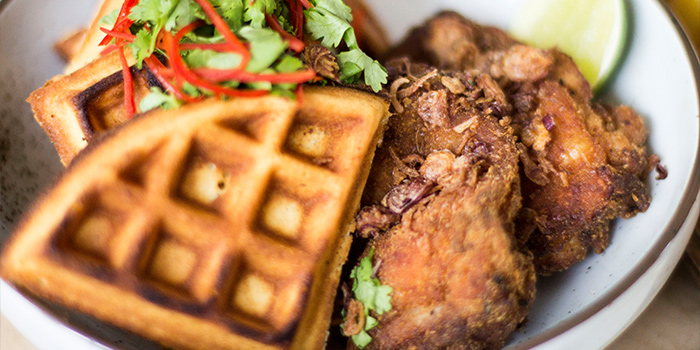 Chicken Waffle from The Refinery in Jalan Besar, Singapore