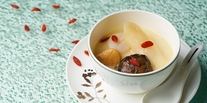 Double boiled Thick Chicken Broth from Cassia serving Chinese cuisine at Capella Hotel on Sentosa Island, Singapore Soup