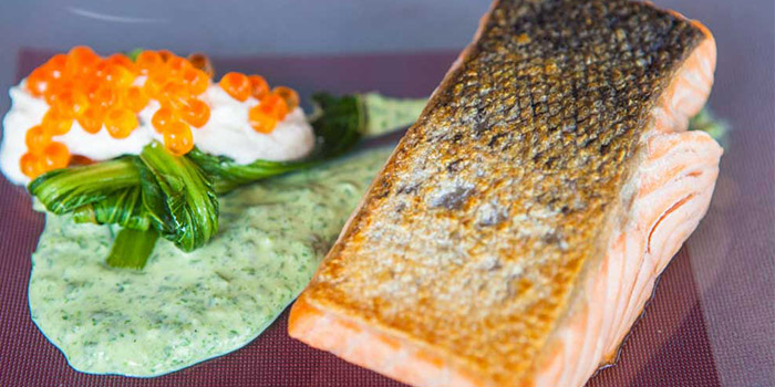 Salmon from El Kabron Spanish Restaurant & Cliff Club in Jimbaran, Bali