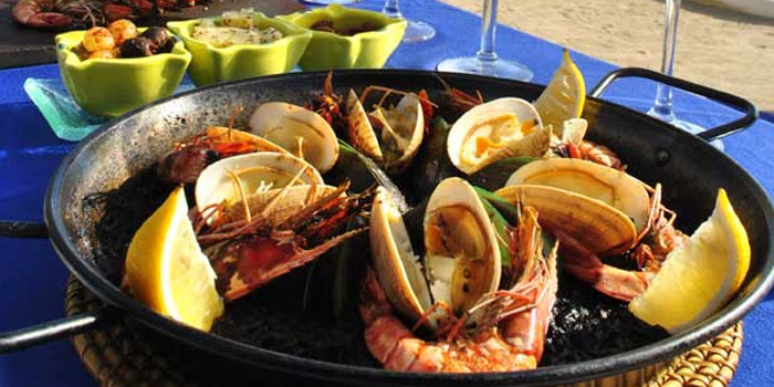Seafood from El Kabron Spanish Restaurant & Cliff Club in Jimbaran, Bali