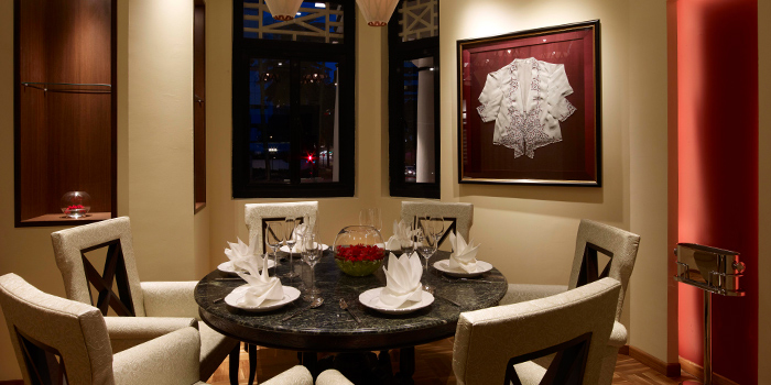 Private Dining Room of Indocafe - The White House in Newton, Singapore
