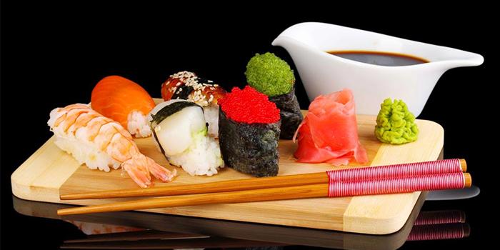 Sushi from KO Japanese Restaurant in Jimbaran, Bali