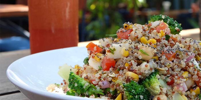 Salad from LacaLaca Cantina Mexicana in Seminyak, Bali