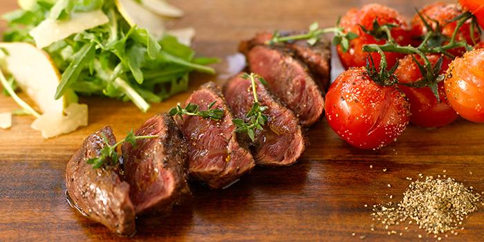 Grass-Fed Flat Iron Steak from Oasis Restaurant in Grand Hyatt Singapore in Orchard, Singapore