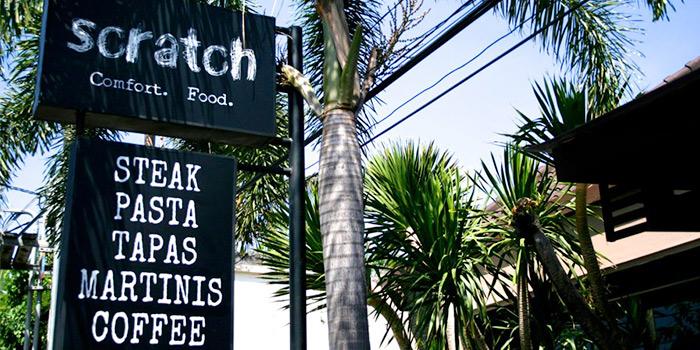 Signage of Scratch in Seminyak, Bali