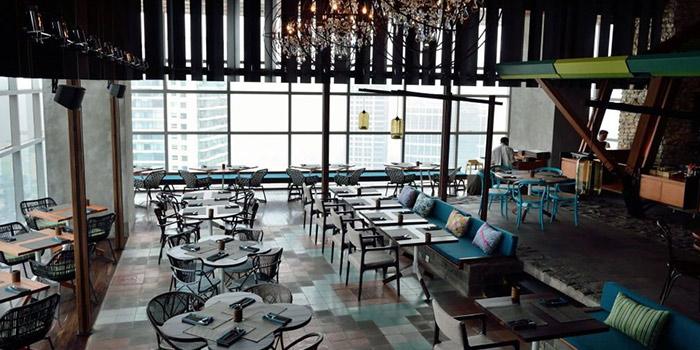 Interior of Skye Restaurant in Thamrin, Jakarta