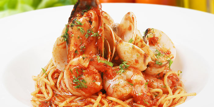 Seafood Marinara Pasta from Social Square @ Parkway Parade in Marine Parade, Singapore