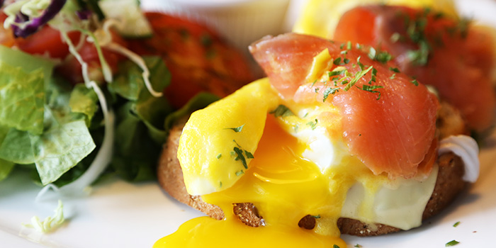 Smoked Salmon Benedict from Social Square @ Parkway Parade in Marine Parade, Singapore